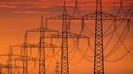 Unter Strom: Eine Hochspannungsleitung in Niedersachsen