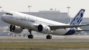 Dem neuen Airbus A320 ist es zu heiß