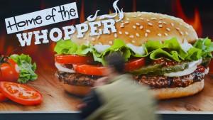 Ein Burger-König steigt aus