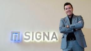 Rene Benko - der Vorstandsvorsitzende des Wiener Immobilieninvestors Signa Holding stellt sich den Fragen von Michaela Seiser