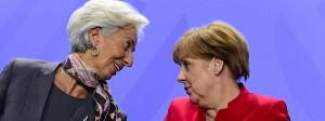 Entscheiderinnen unter sich: IWF-Chefin Christine Lagarde war am Mittwoch bei der Kanzlerin in Berlin.