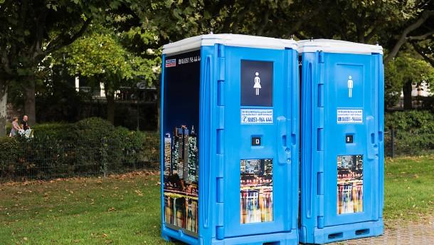 mobile toilettenh uschen beim dixi klo betreiber boomen die gesch fte unternehmen faz. Black Bedroom Furniture Sets. Home Design Ideas