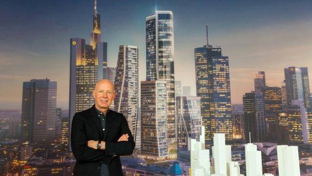 Im Bankenviertel: Vier neue Wolkenkratzer für Frankfurt