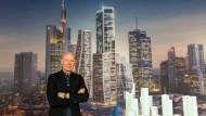 Der holländische Architekt Ben van Berkel hat sich mit seinem Entwurf gegen 15 Konkurrenten durchgesetzt und baut nun vier neue Hochhäuser. In der Foto-Simulation existieren sie schon.