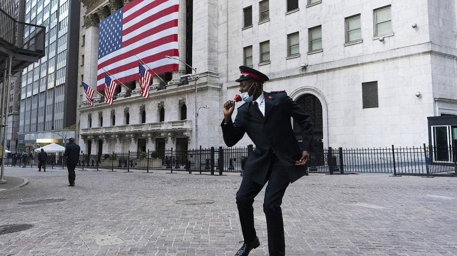 Vor der New Yorker Börse