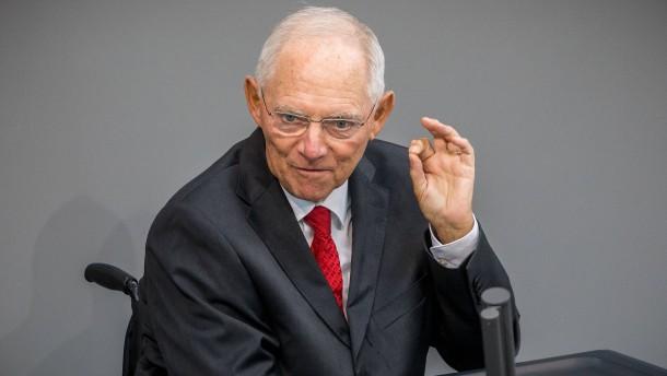 Schäuble warnt vor neuen Blasen