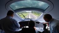 Testfahrt auf der Neubaustrecke zwischen Erfurt und Bamberg