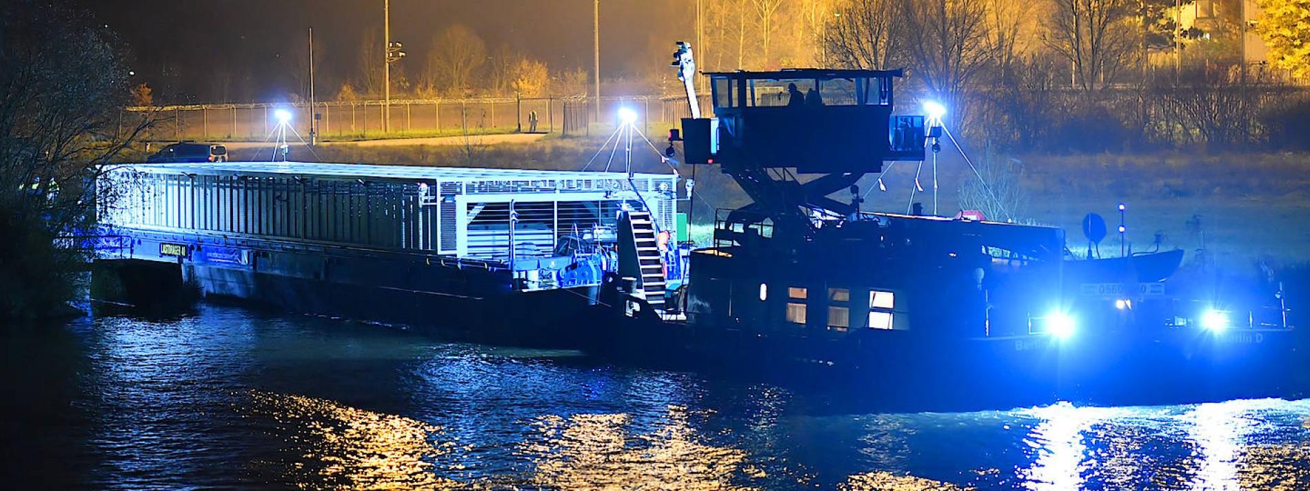 Energiekonzern verschifft Atommüll auf dem Neckar