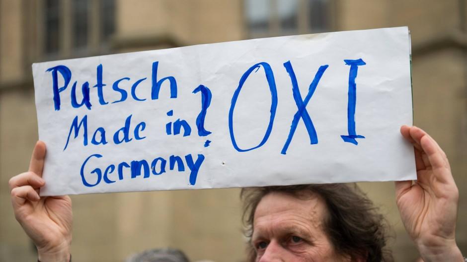 Griechenland-Protest in Stuttgart