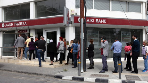 Cash Withdrawals from Cypriot banks