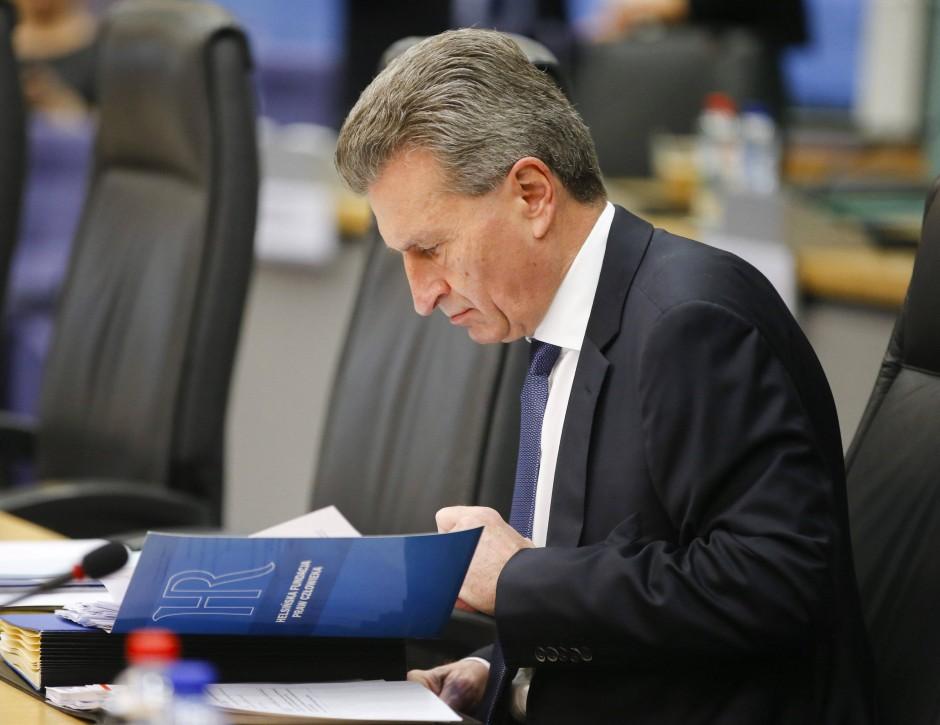 bild zu eu kommissar oettinger alleine sind die beiden b rsen auf dauer zu klein bild 1. Black Bedroom Furniture Sets. Home Design Ideas