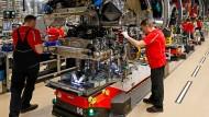 Produktion im Porsche-Werk in Stuttgart.