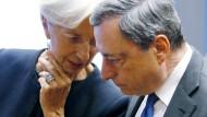 EZB-Präsident Mario Draghi mit seiner designierten Nachfolgerin Christine Lagarde.