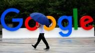 Google-Zeichen in Schanghai.
