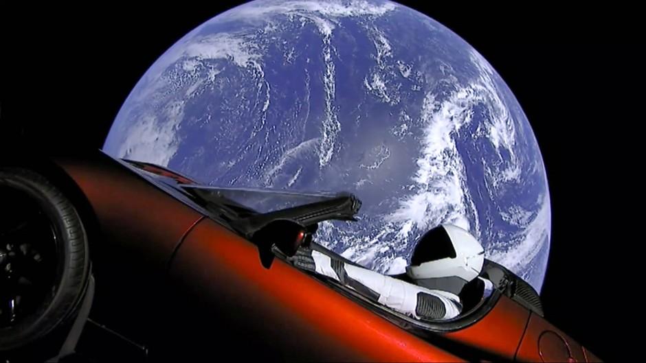 Jetzt auch in Wirklichkeit: Tesla-Roadster im Weltall