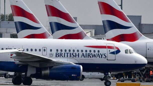 British Airways streicht fast alle Flüge