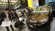 Opel-Zafira auf der Automesse in Schanghai