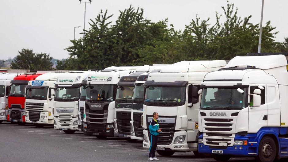 In Großbritannien fehlen Lastwagenfahrer.