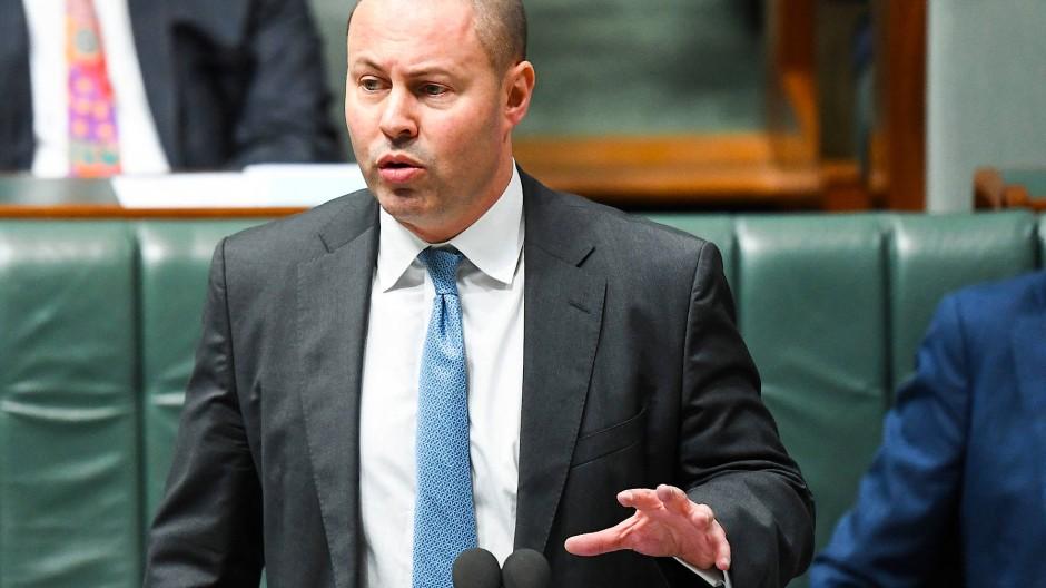 Josh Frydenberg im August 2020 im Parlament