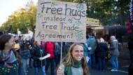 Protest gegen Ceta und TTIP in Berlin