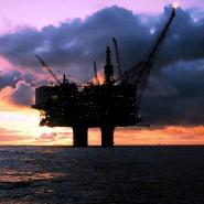 Ölplattform in der Nordsee.