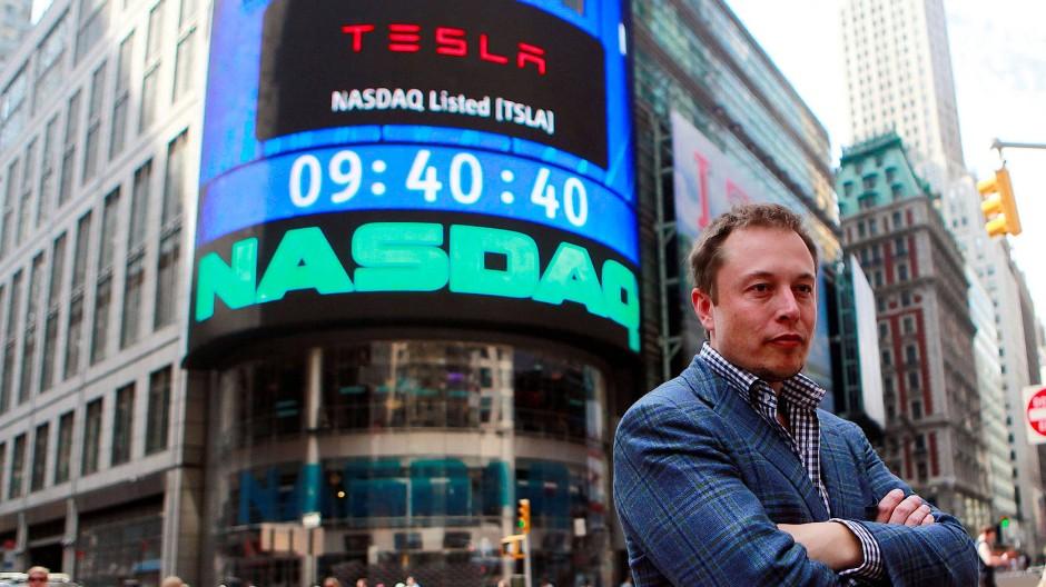 Tesla-Chef Elon Musk: Das Unternehmen ist an der Börse wertvoller als alle anderen Autohersteller.