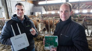 Schlaue Sensoren: Smartbow-Chef Wolfgang Auer (links) und Gerald Schatz vom Linzer Gründungszentrum LCM