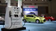 Der Wasserstoff-Toyota geht ab
