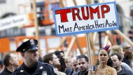 Anti-Trump-Proteste in New York: Immigration gehört zu Amerika.