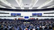 Blick in EU-Parlament in Straßburg