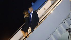 Ein sehr schwieriges Treffen mit Trump beginnt