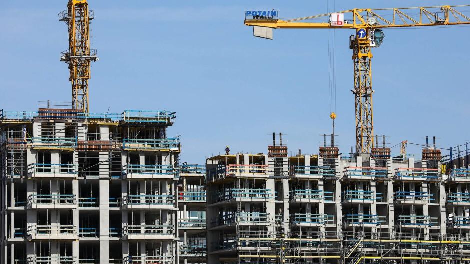 Baustelle für Wohnhäuser in Hamburg