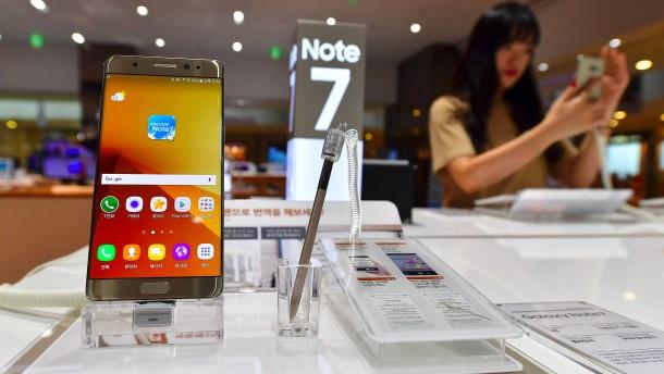 Samsung ruft Galaxy Note 7 zurück