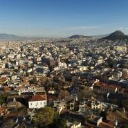 Blick von der Akropolis auf Athen