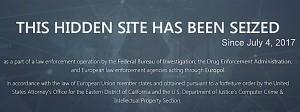 Der Screenshot zeigt, dass amerikanische Behörden AlphaBay geschlossen haben.