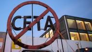 Greenpeace lässt keinen Zweifel an seiner Haltung zu Ceta.