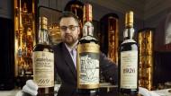 """Iain McClune, Gründer des Auktionshaus """"Whisky Auctioneer"""": In Perth könnte auf einer Auktion einer Whisky-Sammlung bis zu 10 Millionen Euro einsammeln."""
