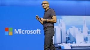 Die Cloud macht Microsoft froh