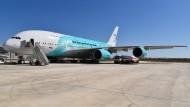 Der portugiesische Flugzeugvermieter Hifly hat einen Airbus A380 mit Korallenmotiv vermietet.