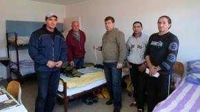 Wanderarbeiter - Auf der Baustelle eines Krankenkassen-Anbaus im bayerischen Murnau arbeiten Rumänen im Auftrag eines Subunternehmens aus Ungarn zu Hungerlöhnen.