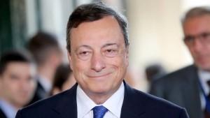 Draghi: Die Erholung ist zunehmend solide