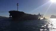 """Zurück auf dem Markt: Der Tanker """"Monte Toledo"""" bringt Öl aus Iran nach Spanien."""