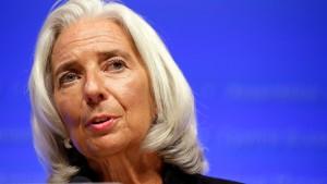 Lagarde: Krise ist noch nicht überstanden