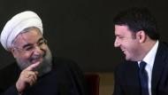 Hassan Rohani und Matteo Renzi in Rom