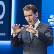 Sebastian Kurz spricht beim World Economic Forum in Davos.
