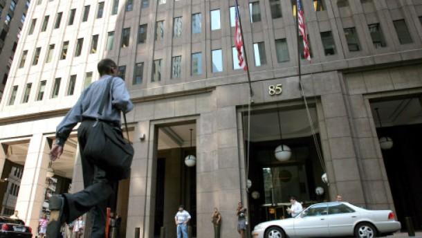 Investmentbanker auf der Straße