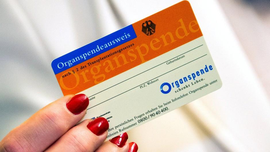 So sieht in Deutschland ein Organspendeausweis aus.