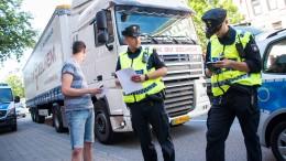 Hamburger Polizei kontrolliert Diesel-Fahrverbote