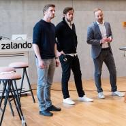 Die Zalando-Vorstände David Schneider (l-r), Robert Gentz und Rubin Ritter Ende Februar 2019