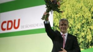 Sächsische CDU wählt Tillich zum neuen Parteichef